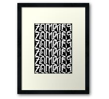 Zombies Zombies Zombies (Black) Framed Print