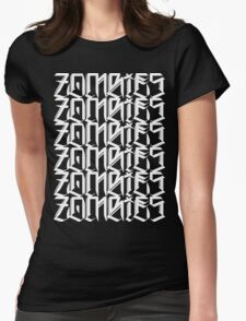 Zombies Zombies Zombies (Black) Womens Fitted T-Shirt