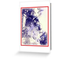 Snow Flakes and Bells Ornaments (Red Border) Greeting Card
