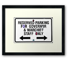 Governor and Warchief Framed Print