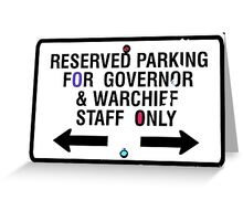 Governor and Warchief Greeting Card