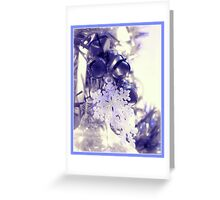Snowflakes and Bells Ornaments (Blue Border) Greeting Card
