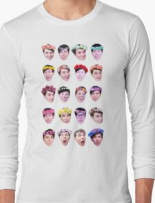Dan and Phil- Flower Crowns Long Sleeve T-Shirt