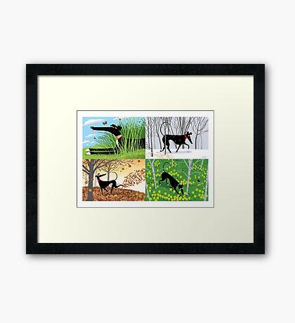 Hound Seasons Framed Print