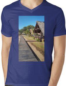 Holiday Huts Mens V-Neck T-Shirt