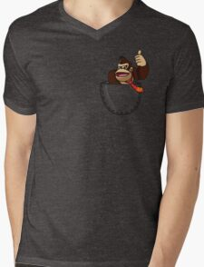 Pocket DK Mens V-Neck T-Shirt