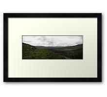 Ballaghasheen Pass, Kerry, Ireland Panorama Framed Print