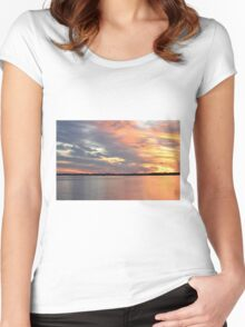 Sunset Magic Women's Fitted Scoop T-Shirt