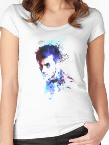 David Tennant - Doctor Who #10 Women's Fitted Scoop T-Shirt