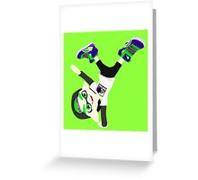 Splatoon - Inkling boy Green Greeting Card