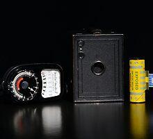 Box Brownie and Weston Master Light Meter  by Nigel Bangert