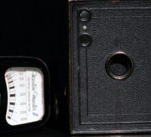 Box Brownie and Weston Master Light Meter  Sticker