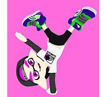 Splatoon - Inkling boy Pink Photographic Print