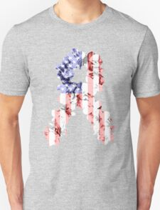 Red, White and Blue Flower Ribbon T-Shirt