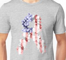 Red, White and Blue Flower Ribbon Unisex T-Shirt