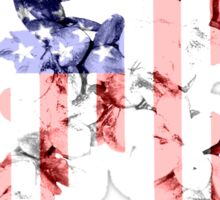 Red, White and Blue Flower Ribbon Sticker