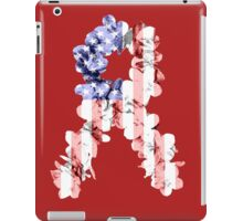 Red, White and Blue Flower Ribbon iPad Case/Skin