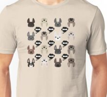 Different French Bulldogs!  Unisex T-Shirt