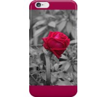 Romantic pastel gray red girly roses floral iPhone Case/Skin