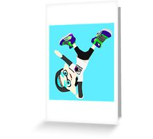 Splatoon - Inkling boy Cyan Greeting Card