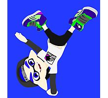 Splatoon - Inkling boy Blue Photographic Print