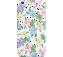 Pastel pink purple watercolor floral dots pattern iPhone Case/Skin