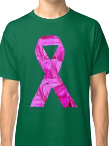 Pink Azalea Flowers Awareness Ribbon Classic T-Shirt