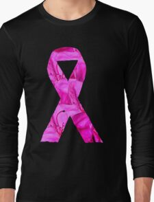 Pink Azalea Flowers Awareness Ribbon Long Sleeve T-Shirt