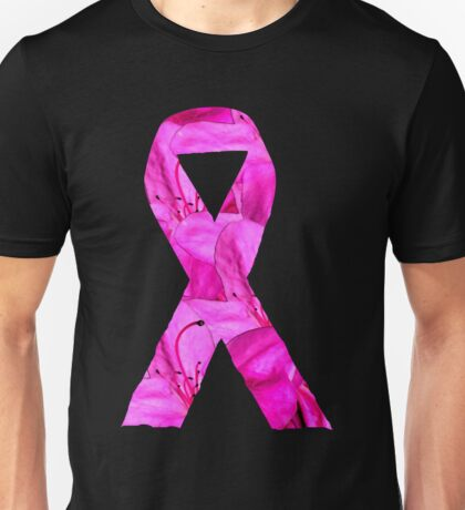 Pink Azalea Flowers Awareness Ribbon Unisex T-Shirt