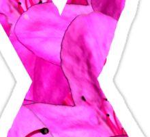 Pink Azalea Flowers Awareness Ribbon Sticker