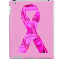 Pink Azalea Flowers Awareness Ribbon iPad Case/Skin