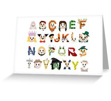 Oz-abet (an Oz Alphabet) - Landscape Greeting Card