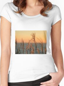 Winter Morning Light - Lyme Regis Women's Fitted Scoop T-Shirt