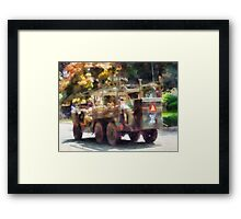 Army Truck in Parade Framed Print