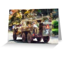 Army Truck in Parade Greeting Card