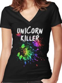 Unicorn Killer T Shirt Women's Fitted V-Neck T-Shirt