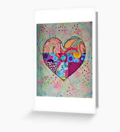 Pieces of my Heart Greeting Card