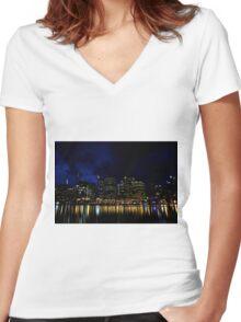 light Women's Fitted V-Neck T-Shirt