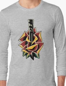 Traditional Rose Flash Long Sleeve T-Shirt