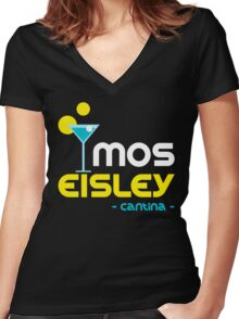 Mos Eisley Cantina Women's Fitted V-Neck T-Shirt