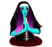 Bloody Nun Photographic Print