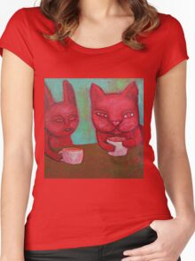 Cat Cafe Women's Fitted Scoop T-Shirt