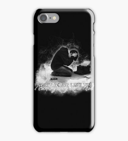 Alan Wake 'I can't going like this....' - black version iPhone Case/Skin