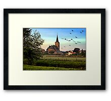 Kingdom of God Church Sunrise Landscape Framed Print