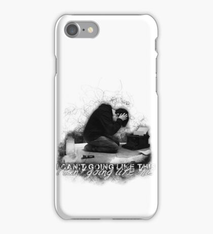Alan Wake 'I can't going like this....' - white version iPhone Case/Skin