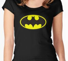 Classic Bat Logo Women's Fitted Scoop T-Shirt