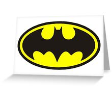 Classic Bat Logo Greeting Card