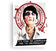 """Silent Hill - It's time to complete the """"21 Sacraments"""" Canvas Print"""