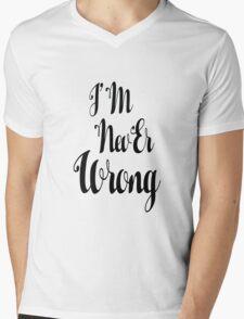 """i'M nevEr Wrong"" mew mew  Mens V-Neck T-Shirt"