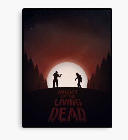 Night of the Living Dead (Red Version) Canvas Print
